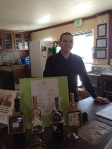 Mike Crowley, Syringa owner and winemaker, hails from Podunk. Bonus!