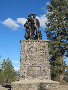 Statue at Donner State Park. Families who survive road trips deserve to be bronzed.