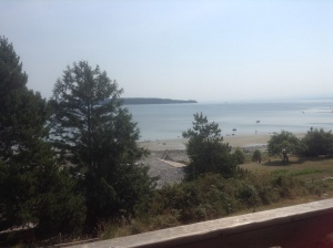 The view from the Hollyhock Resort dining hall on Cortes Island was soothing.
