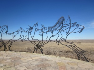 Sculpture at the Little Bighorn Battlefield.