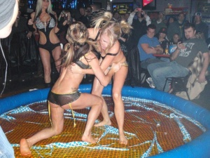 Jello wrestling was invented to keep Daytona Beach from getting boring during college spring break.
