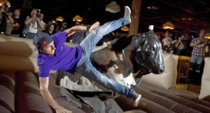 No one rides the mechanical bull at the beginning of the night.